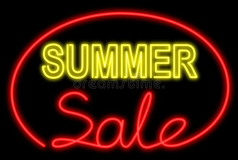Download Summer sale neon stock image. Image of background, information - 18059469