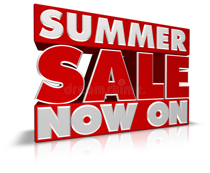 Summer Sale Now On stock illustration