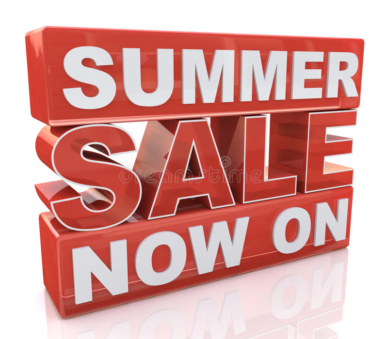 Summer Sale Now On royalty free stock photography