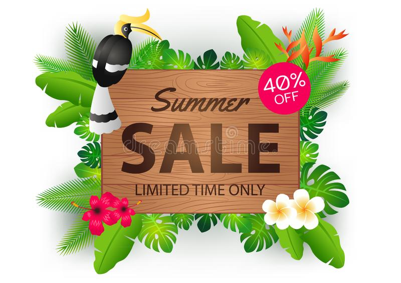 Summer sale offer banner decorative element with its symbol,modern and fashionable design. Vector illustration vector illustration