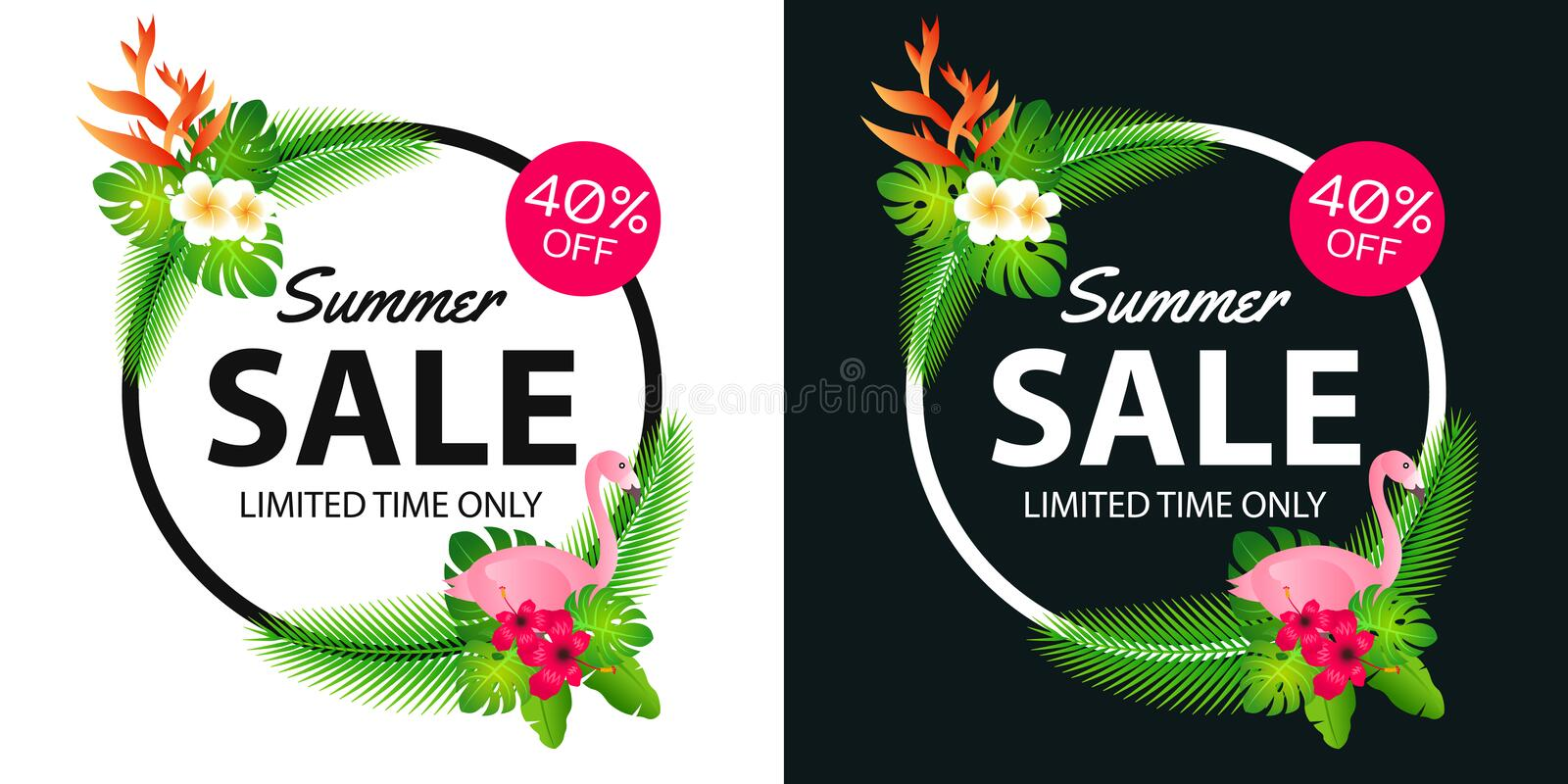 Summer sale offer banner decorative element with its symbol,modern and fashionable design. Vector illustration royalty free stock photos
