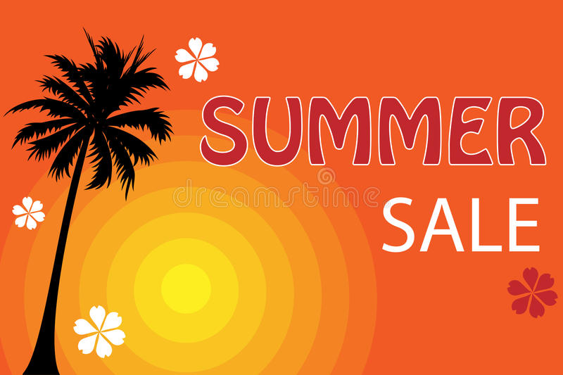 Summer sale poster vector illustration