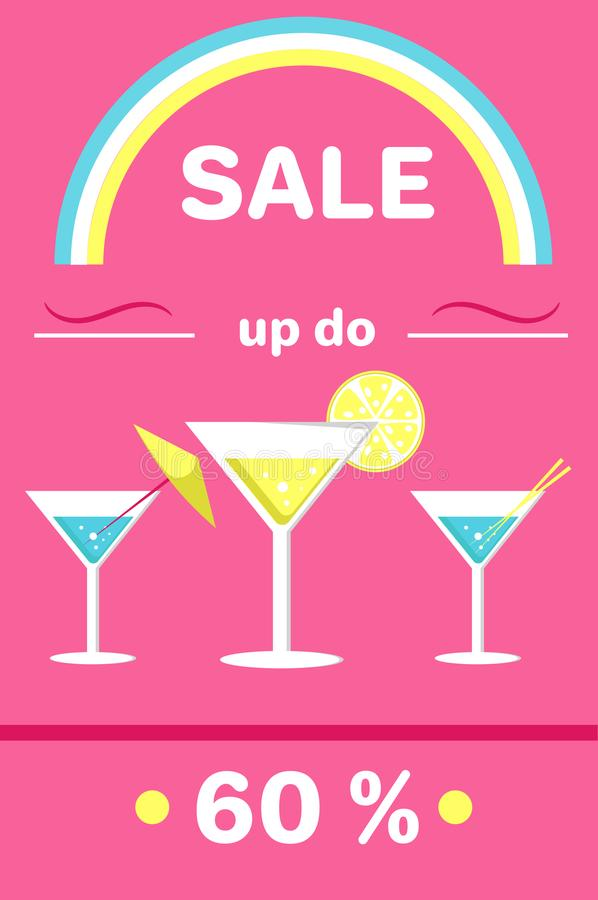 Summer Sale Poster with Holiday Discount Vector vector illustration