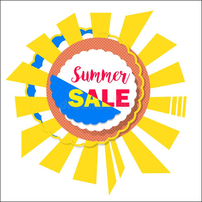 summer sale sign banner poster for shopping e commerce product