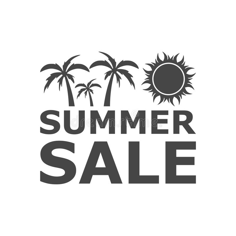 summer sale sign summer sale icon on white background stock vector