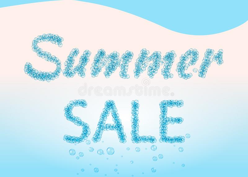 Summer sale sign written in the bubbles. stock images