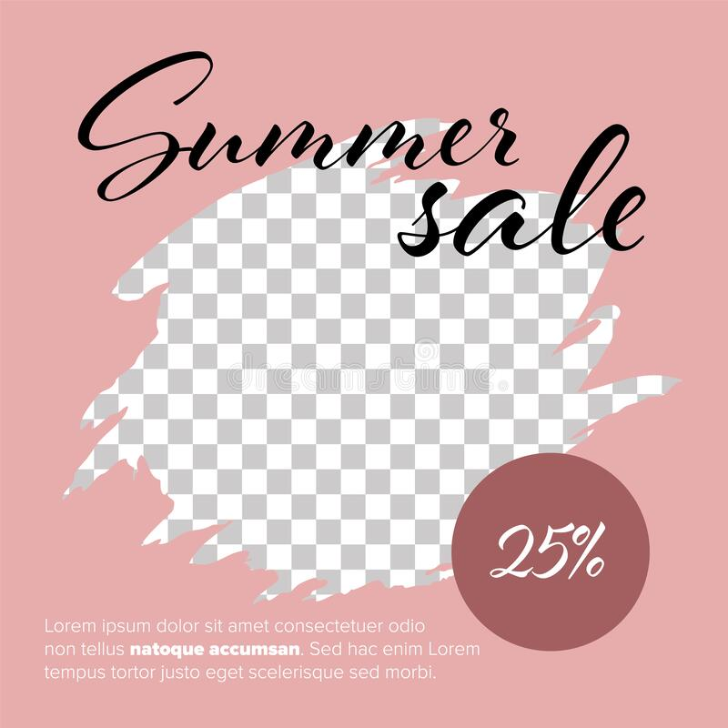 Free Summer Sale Social Media Template Design Stock Photos - 217440473