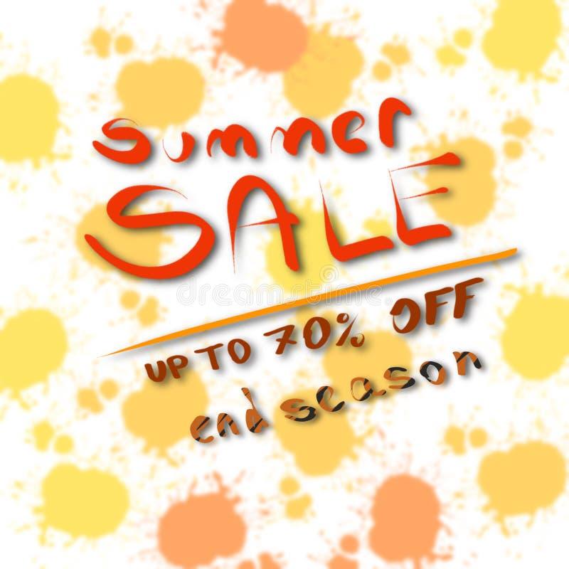 Summer sale, up to 70% off, end season, background design element, illustration. Wallpaper vector illustration