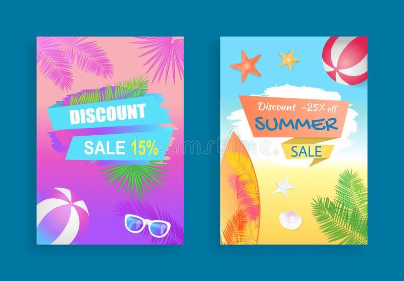 Summer Sale Vector Banner Promotion Leaflet Sample vector illustration