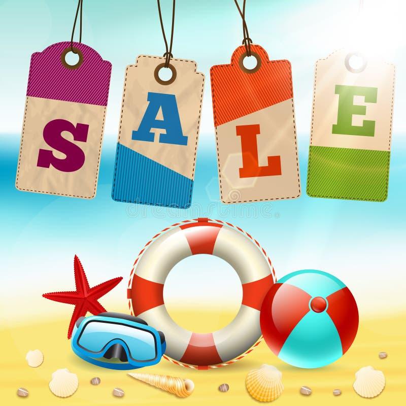Download Summer sale wallpaper stock vector. Illustration of promo - 39503089