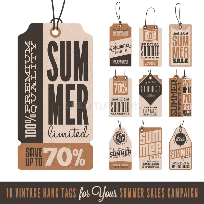 Free Summer Sales Hang Tags Stock Photos - 55478873