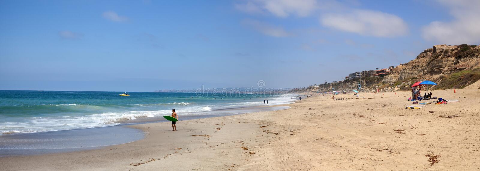 Summer at the San Clemente State Beach royalty free stock photos