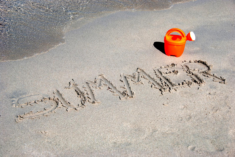 Summer on sand royalty free stock photos