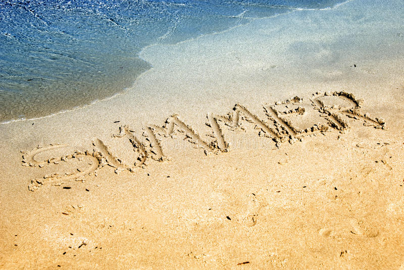Download Summer on  sand stock image. Image of sand, wave, coast - 25791309