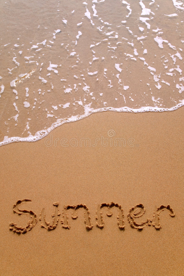 Summer in sand vertical stock image