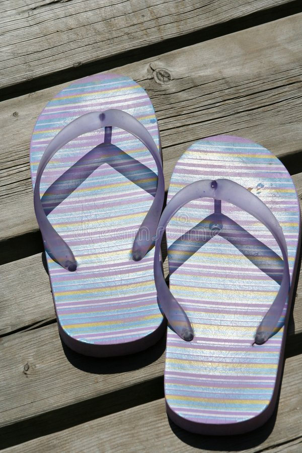 Download Summer Sandals stock image. Image of shoe, flip, foot, wood - 192687