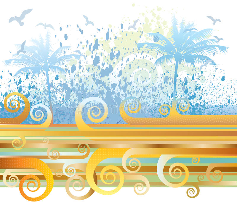 Download Summer scene stock vector. Illustration of decorative - 14493412