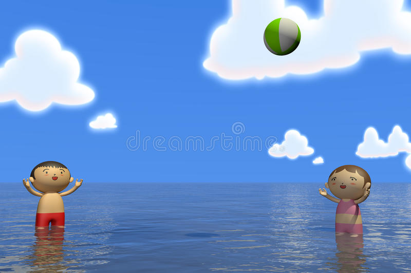 Download Summer sea stock illustration. Image of vacation, mother - 19947873