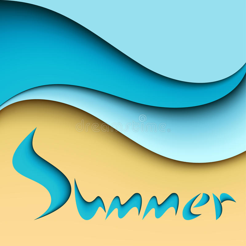 Summer Sea Background Stock Photo
