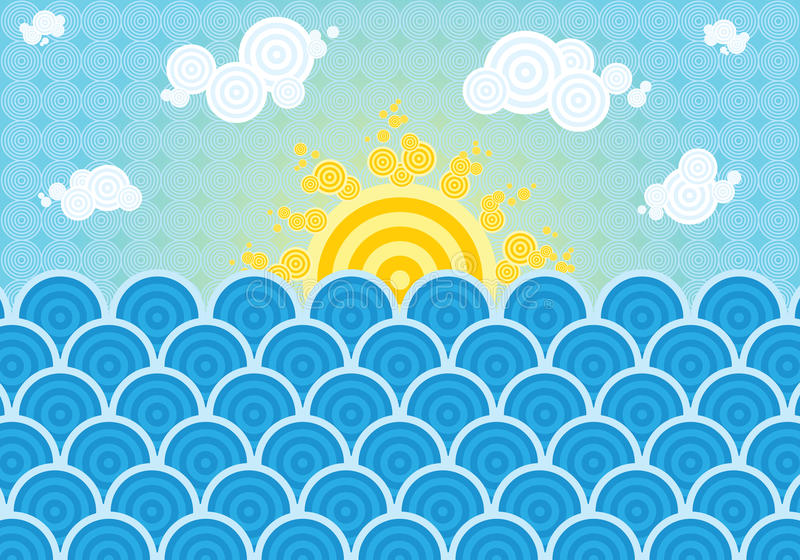 Download Summer Sea Illustration Stock Photo - Image: 29119650