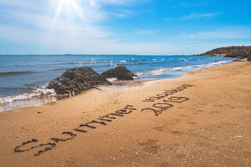 Summer sea vacation on the beach. Sunny day stock photo
