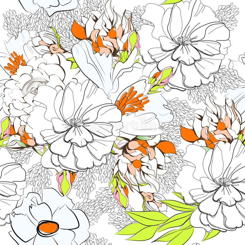 Summer seamless wallpaper stock illustration