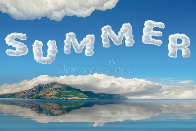 Summer seascape stock image