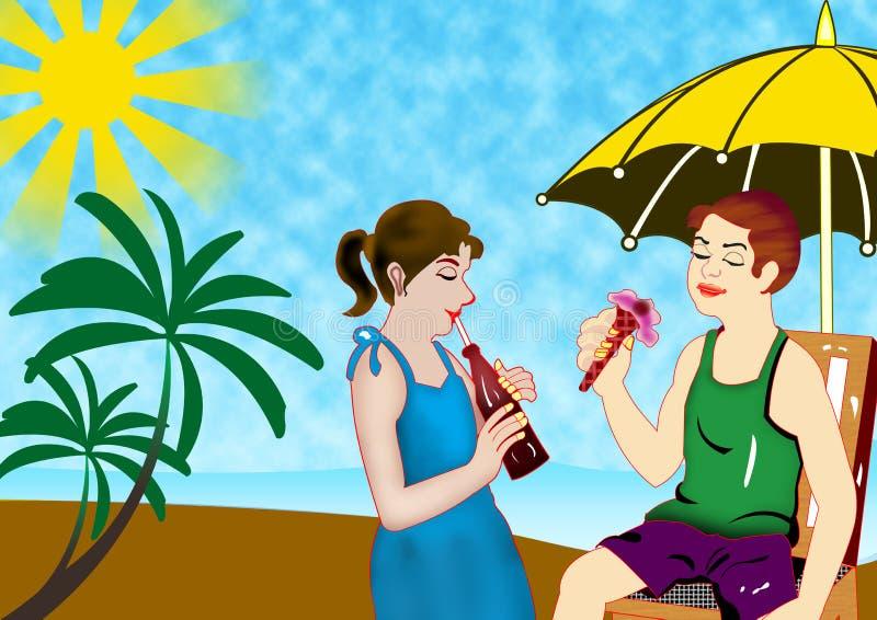 Summer Season stock illustration. Illustration of couple