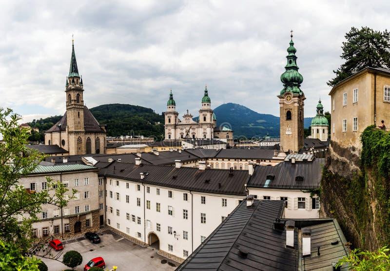 Center of Salzburg, Austria. Summer in senter of Salzburg, Austria royalty free stock photos