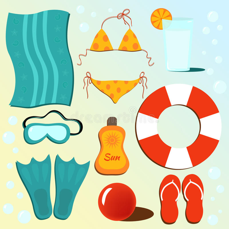 Summer set stock image