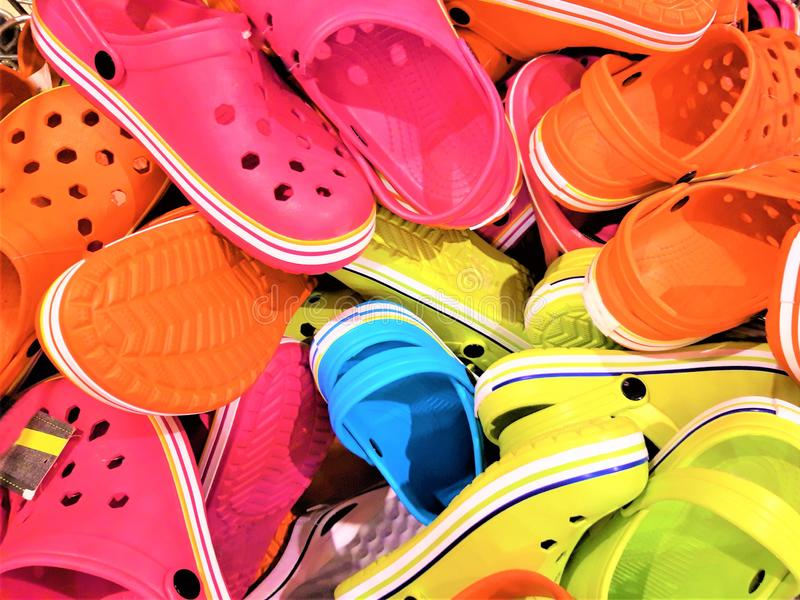 Summer shoes sandals royalty free stock images