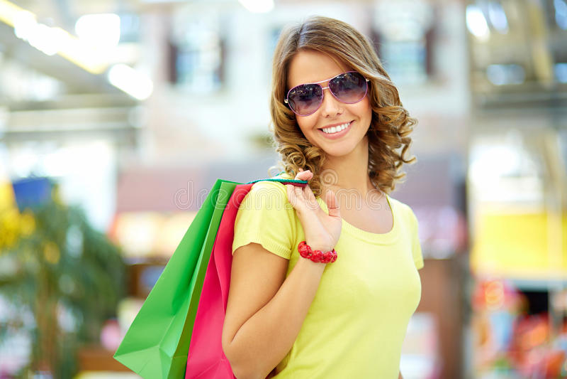 Summer shopper royalty free stock image