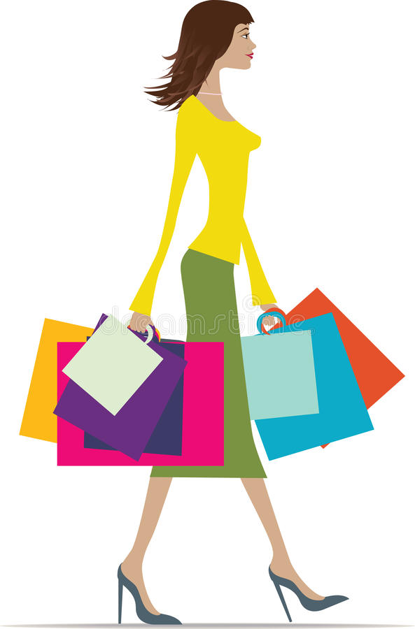 Download Summer shopping stock vector. Image of modern, beauty - 11240561
