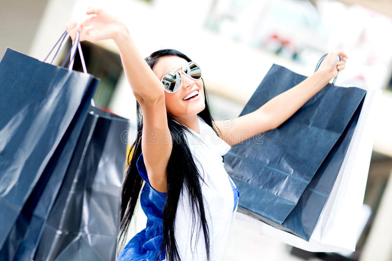 Download Summer shopping stock image. Image of casual, glamour - 25126917