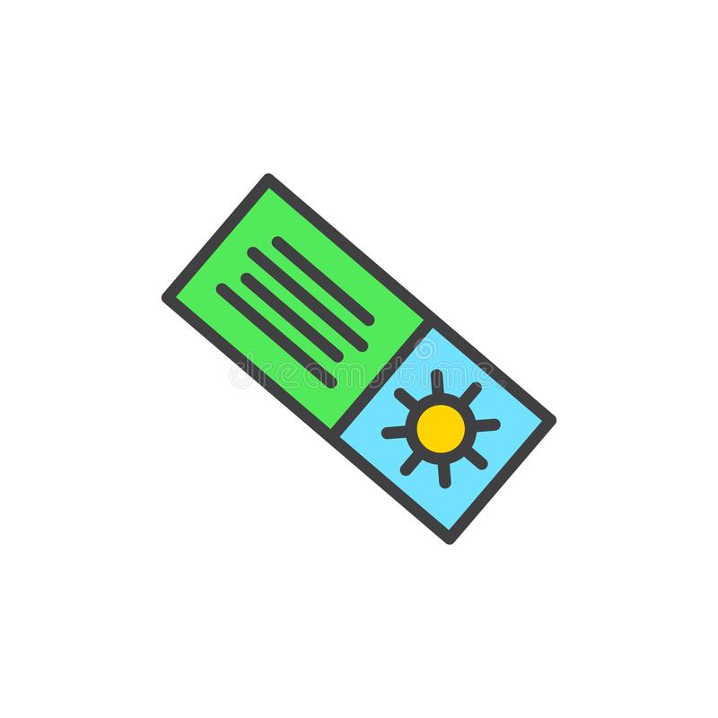 Summer shopping coupon filled outline icon stock illustration