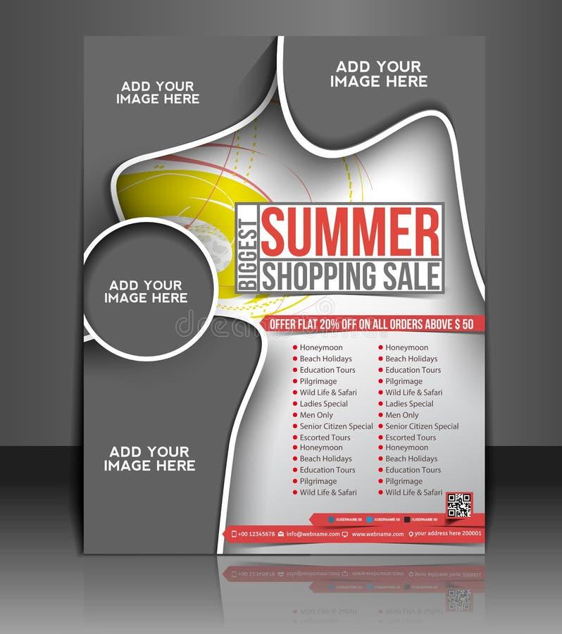 Summer Shopping Flyer Design vector illustration