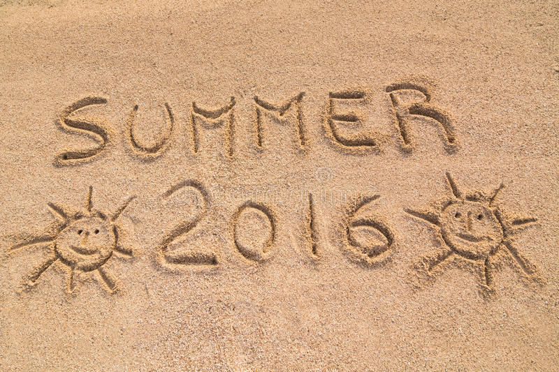 Summer 2016 sign stock photos