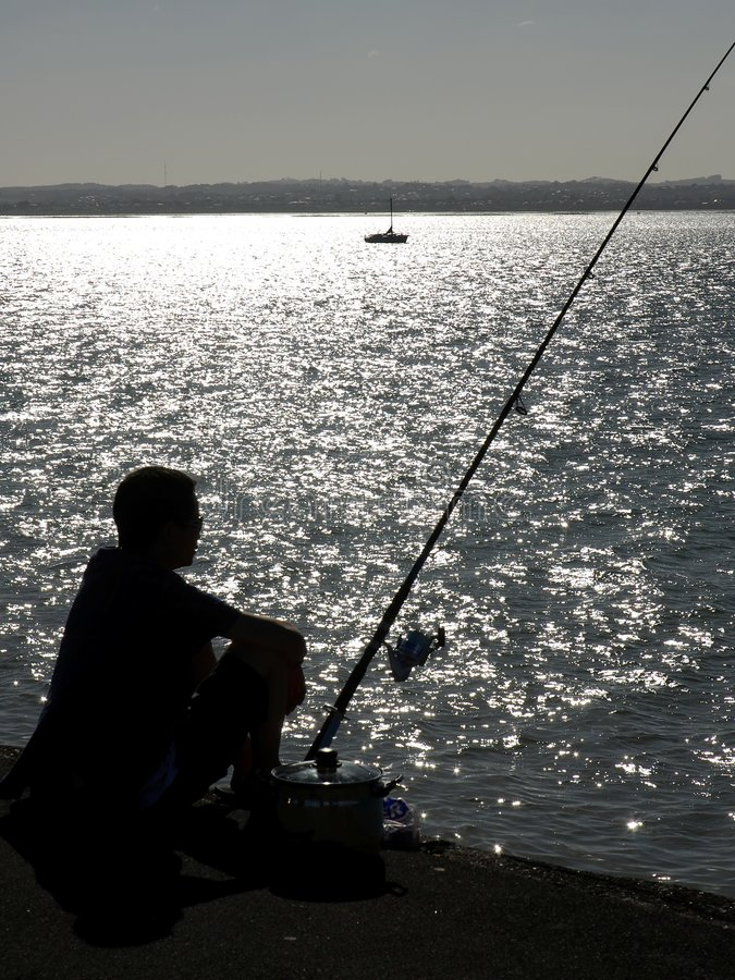 Download Summer Silhouette stock photo. Image of watching, harbor - 4013154