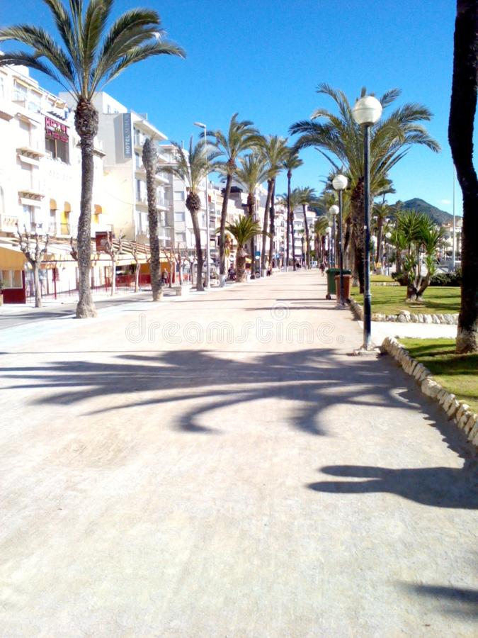 Summer in Sitges stock image