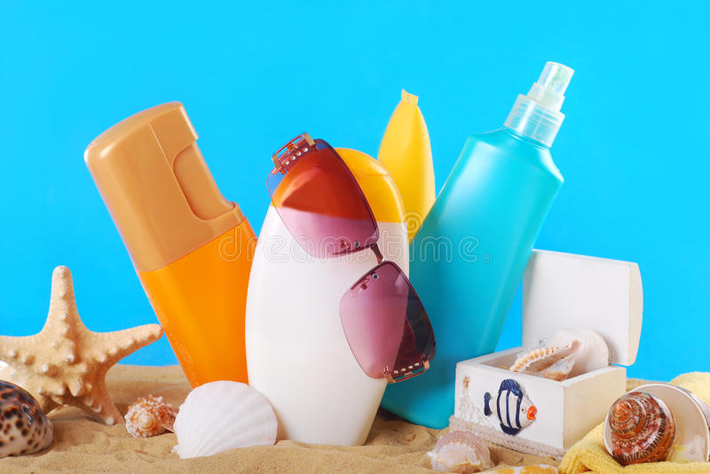 Summer skin care royalty free stock photos