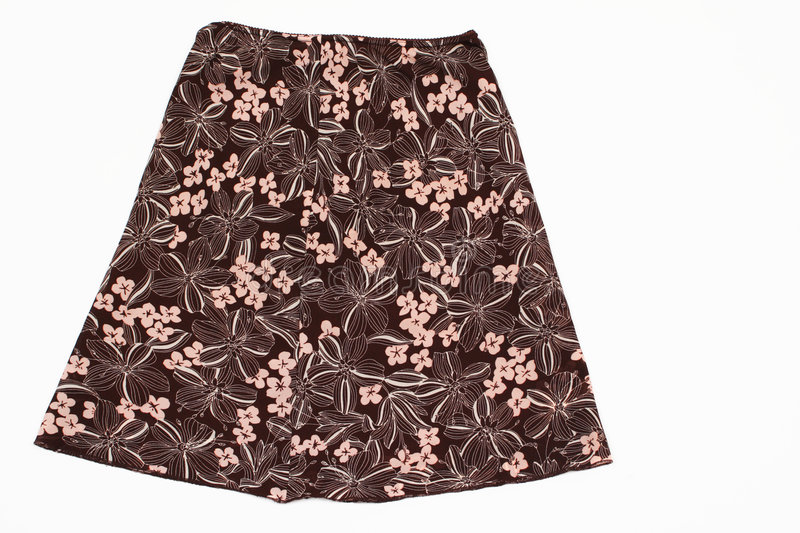 A Summer Skirt in Brown stock photography