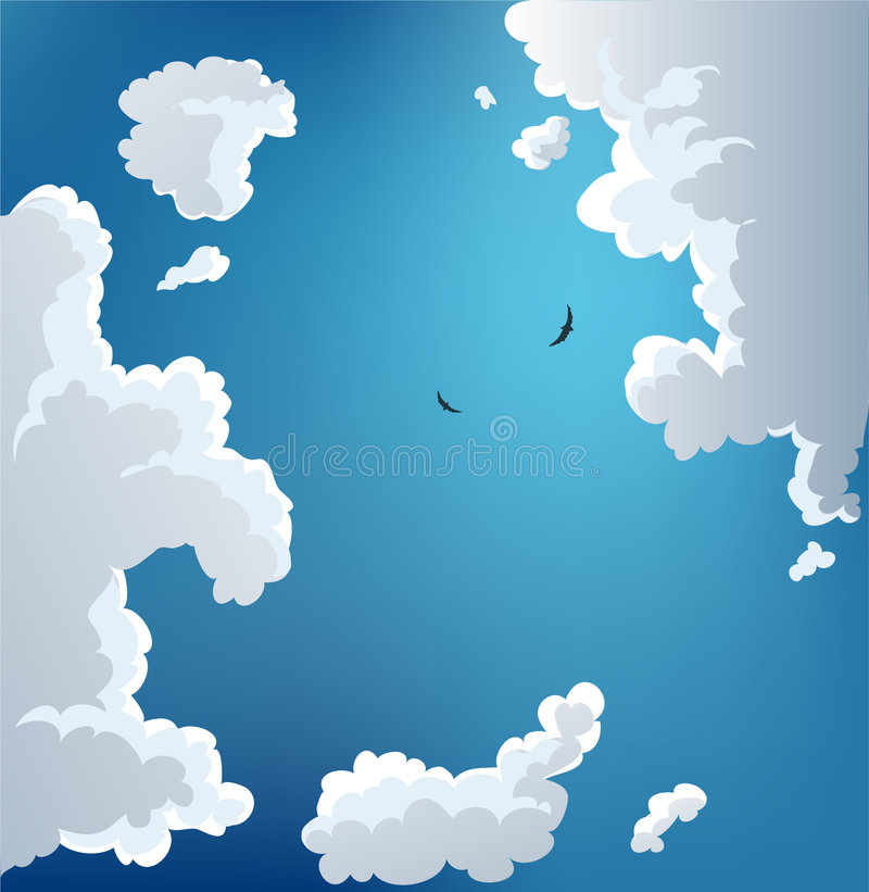 Summer sky stock illustration