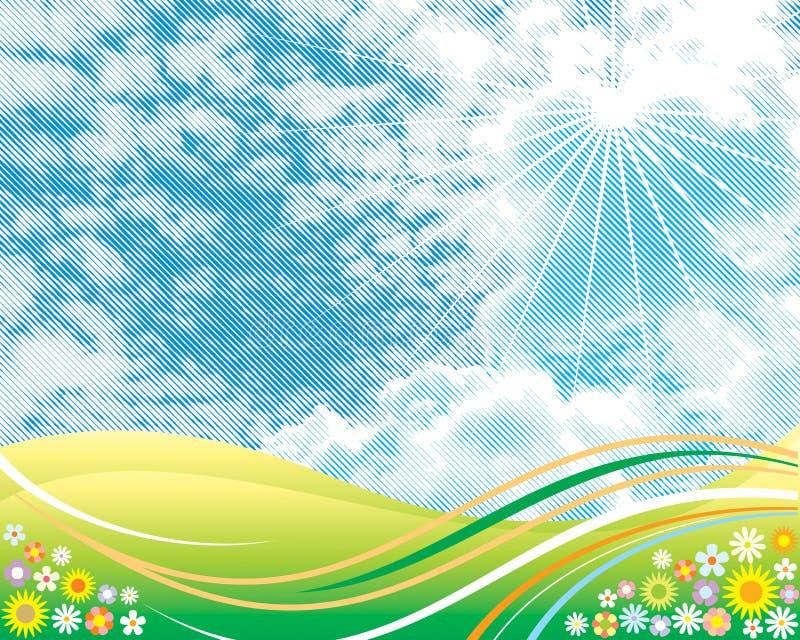 Download Summer Sky stock vector. Image of creative, vector, halftone - 7687706