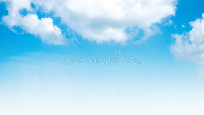 Summer sky and beautiful in the blue sky with clouds. royalty free stock photos
