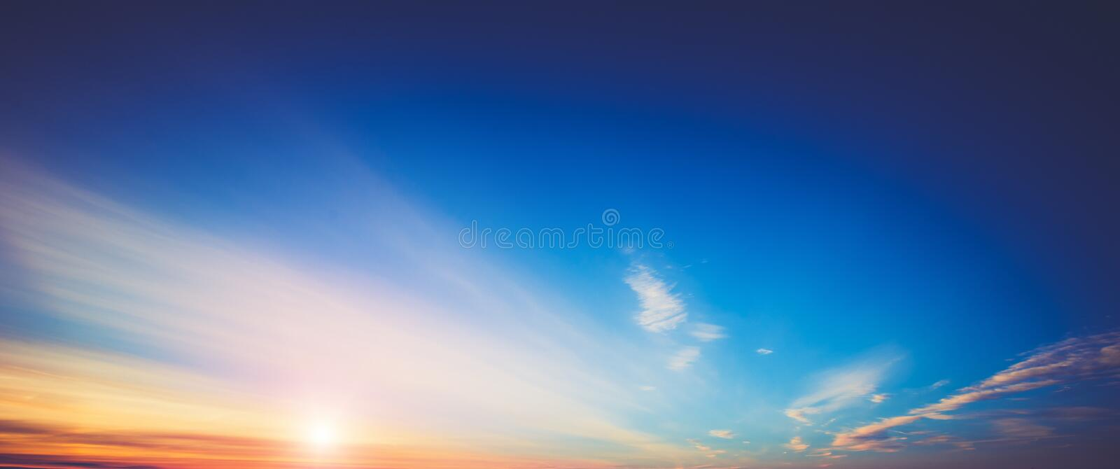 Summer sky clouds royalty free stock photography