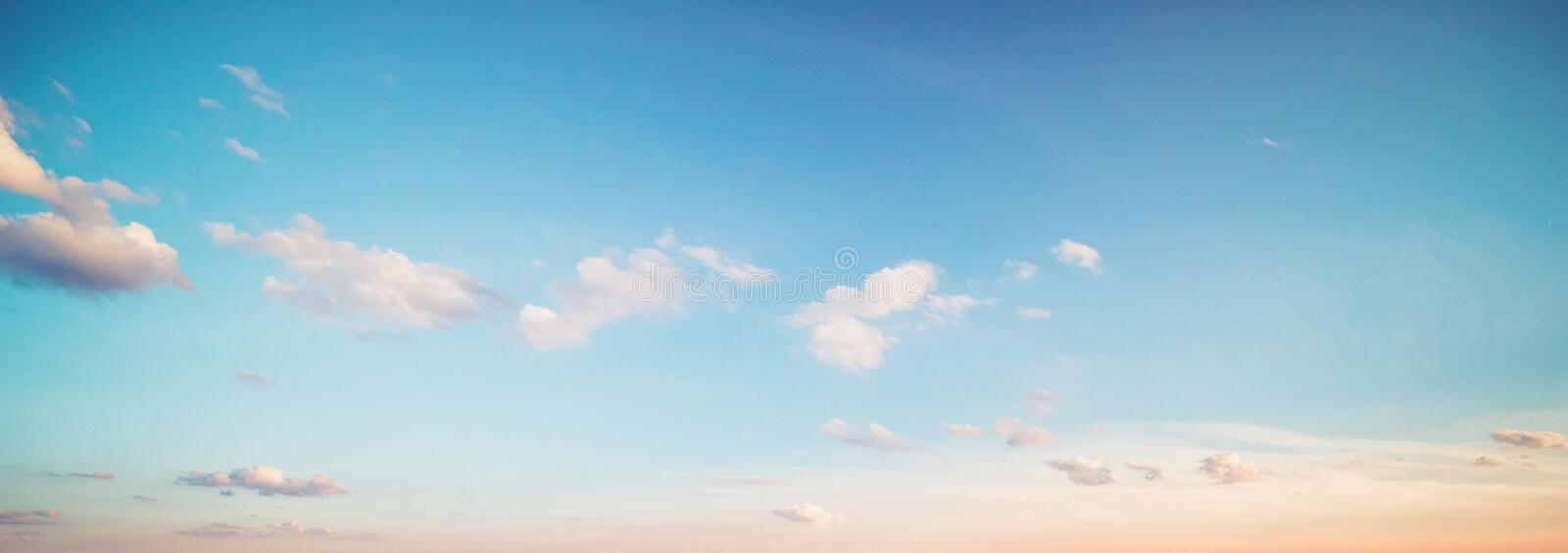 Summer sky clouds royalty free stock photo