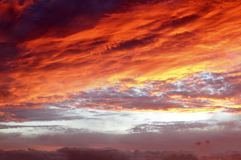 Summer sky. Sunlit clouds in summer sky stock image
