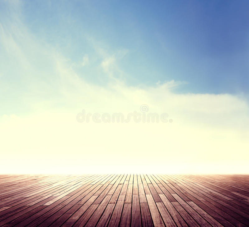 Summer Skyline Cloudscape Sunshine Outdoor Concept.  royalty free stock photography