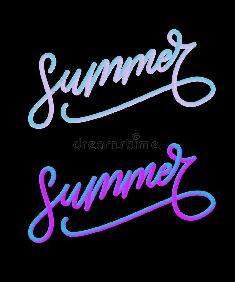 Summer slogan illustration Sales Holiday Flyer Banner Poster. Summer holiday slogan flower illustration, fashion, print, retro, typography, vintage, tropical stock illustration