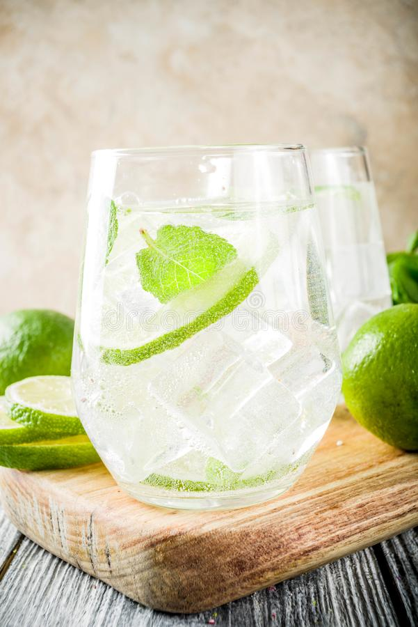 Summer sour cocktail mojito royalty free stock photos